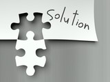 Solution concept, matching puzzle pieces