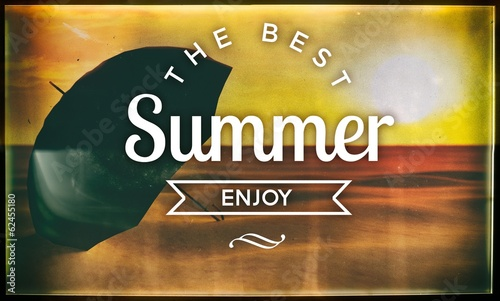 The best summer enjoy, vintage poster