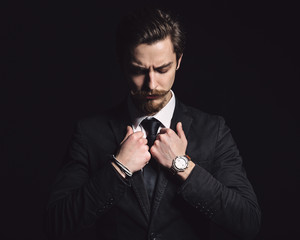Picture of an elegant young fashion man