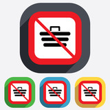 No Shopping Cart sign icon. Online buying button
