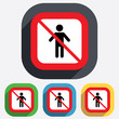 No Human male sign icon. Person symbol.