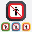 No Human male sign icon. Person symbol.