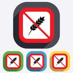 Gluten free sign icon. No gluten symbol.