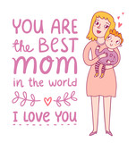 Mothers day greeting illustration