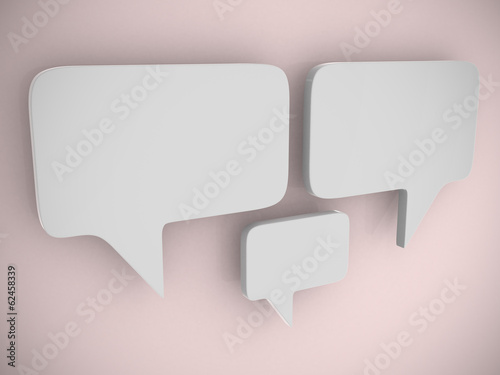 bubble talk - this is 3d render illustration
