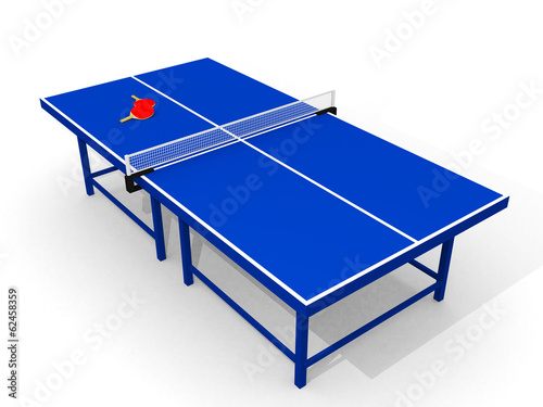 Ping pong table - computer rendered image