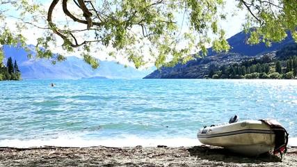 Boat on Queenstown, New Zealand