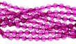 Pink necklace made of glass beads