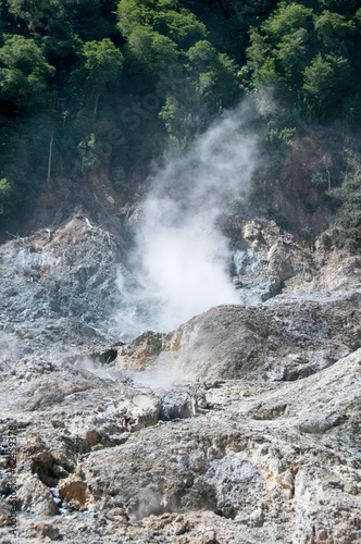 canvas print picture Smoke at Soufriere Volcano in Saint Lucia, Caribbean