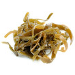Laminaria (Kelp) Seaweed Close-Up Isolated on White Background