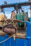 Nets and rigging of an iron fishing trawler