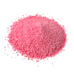 Pile of Fruit Juice Powder Concentrate Isolated on White