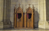 Confessional in church