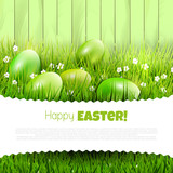 Fototapety Green Easter background with copyspace