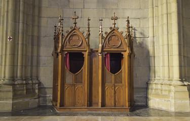 Confessional in church