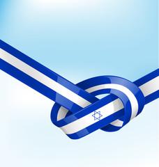 ISDRAEL ribbon flag on background