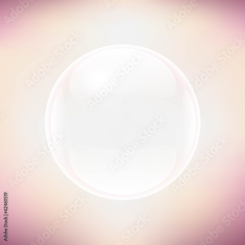 Transparent Sphere And Pastel Background
