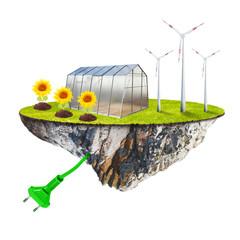 Ecology farming. Sustainable development concept.