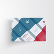 Vector  infographics. Abstract background card and lines