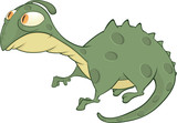 Little green lizard cartoon