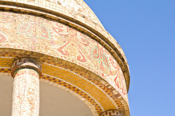 Dome of a small temple decorated