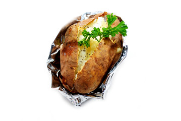 Baked Potato with Fresh Parsley