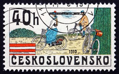 Postage stamp Czechoslovakia 1979 Bicycles from 1910