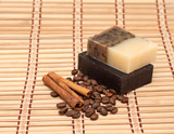 Spa soap, coffee and cinnamon