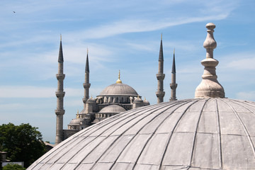 Dome and minarets of the Blue Mosque, Istanbul