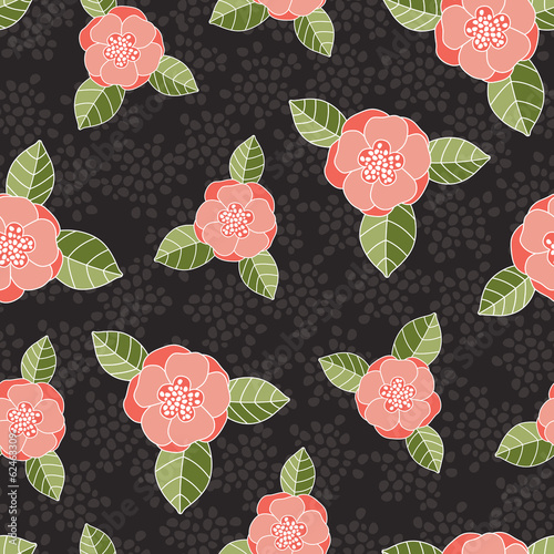 Seamless vector rose pattern