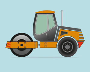 Road Roller isolated on background