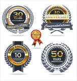 Anniversary sign collection, retro design