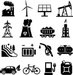 Energy icons black