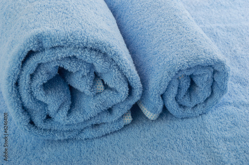 blue soft towel