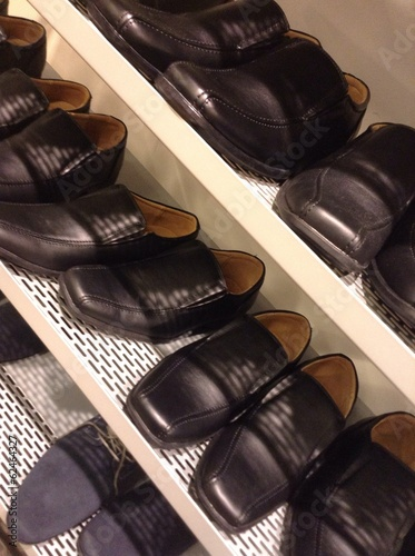 shoes on shelving