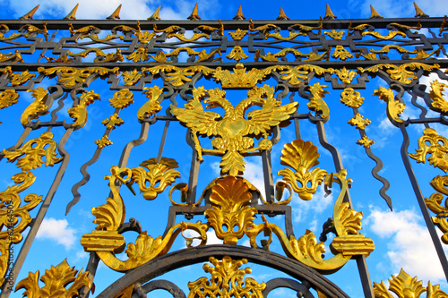 Peterhof. St. Petersburg. Russia. Eagle symbol of autocracy.