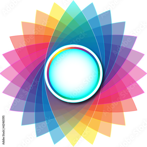Colorful Rounded Empty Background