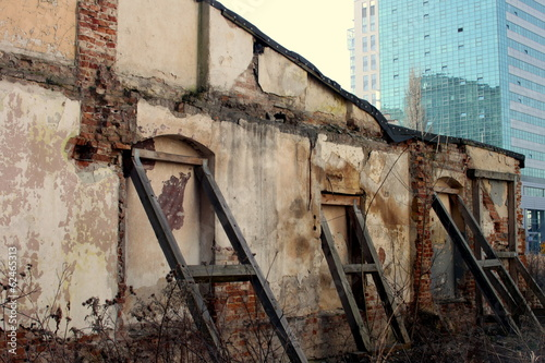 ruins in Warsaw centre