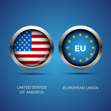 Usa and Eu flag button