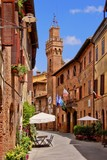 Medieval architecture of a small town in Tuscany, Italy