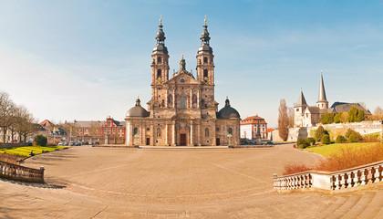 Panorama des Fuldaer Doms, Domplatzes und Michaelskirche