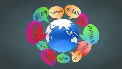World wide web animtion.