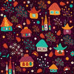 "Seamless pattern ""Town"""