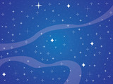 Blue sky full with shiny stars background illustration