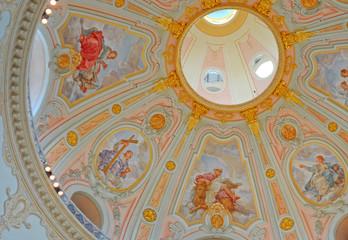 Interiour Frauenkirche in Dresden, Germany