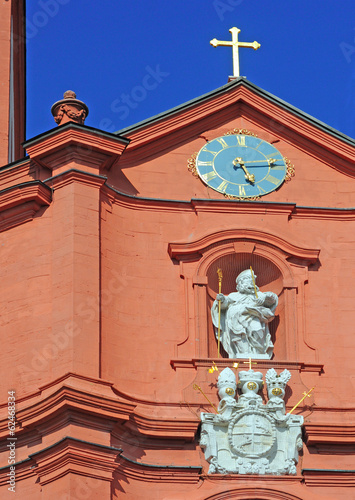 baroque church of sankt blasius in fulda, germany