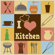 Kitchen retro poster