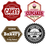 Bakery labels or stamps