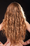 Beautiful blong hair long curly healthy