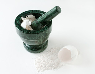 Mortar & Pestle with Egg Shells